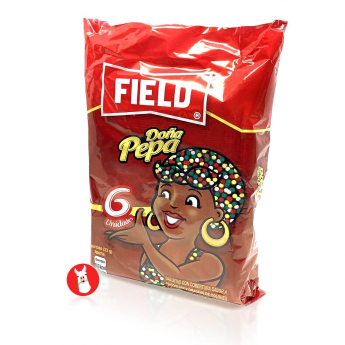 Chocolate Flavor Cookies Dona Pepa Field 6 units of 23 g