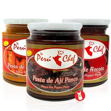 Peruchef Ají Panca - Amarillo - Rocoto Paste set