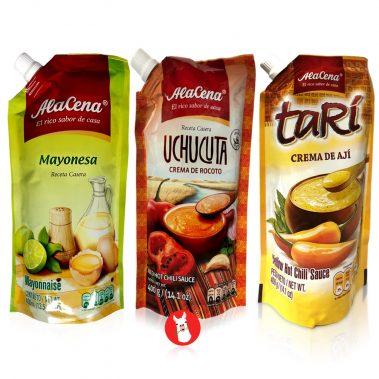 Alacena Mayonesa, Crema de Ají Tari y Crema de Rocoto Uchucuta Combo