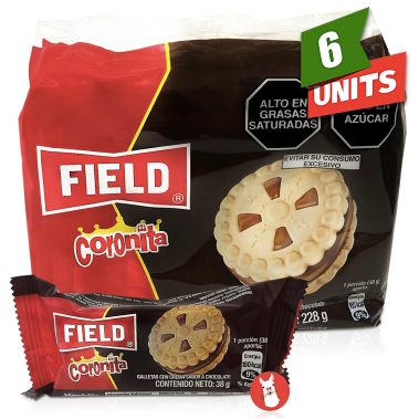 Field Coronita Cookies Filled with Chocolate Cream with single unit