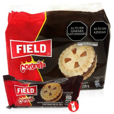 Field Coronita Cookies Filled with Chocolate Cream