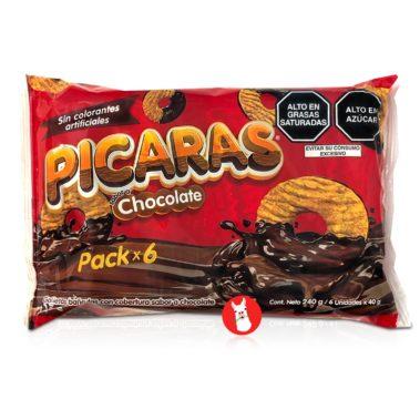 PICARAS Galletas Bañadas en Chocolate 240 gr