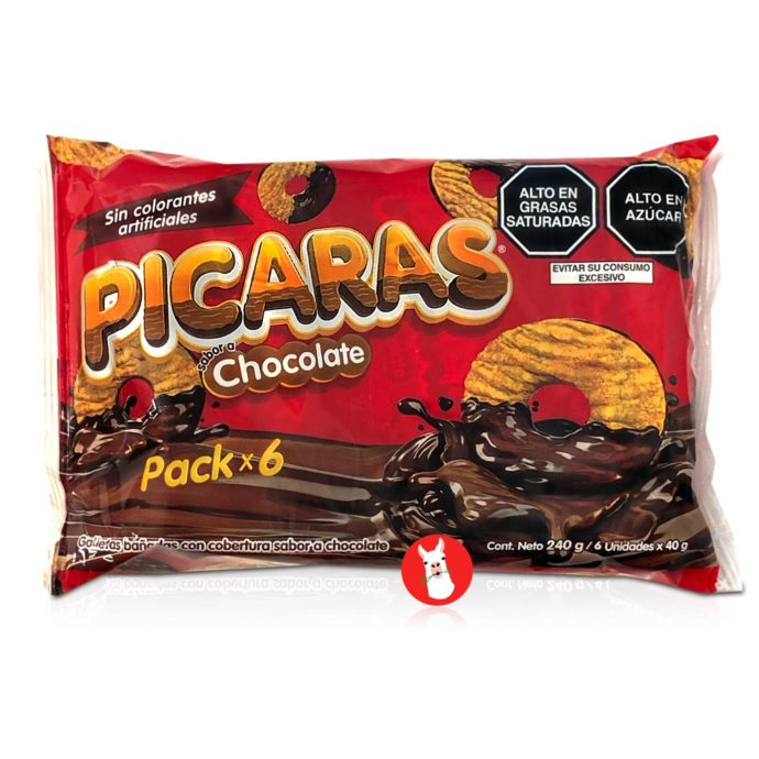 PICARAS Galletas Bañadas en Chocolate 240 gr