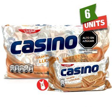 Victoria Casino Galletas Sabor Lucuma paquete 6 with single unit