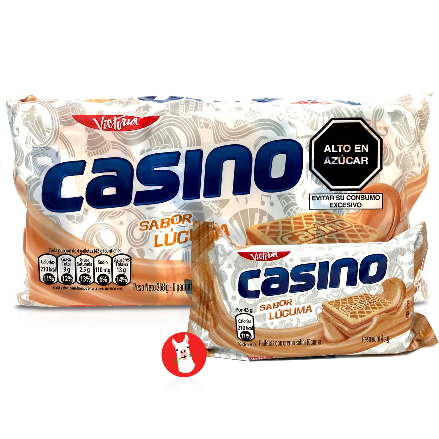 Victoria Casino Galletas con Crema Sabor Lucuma
