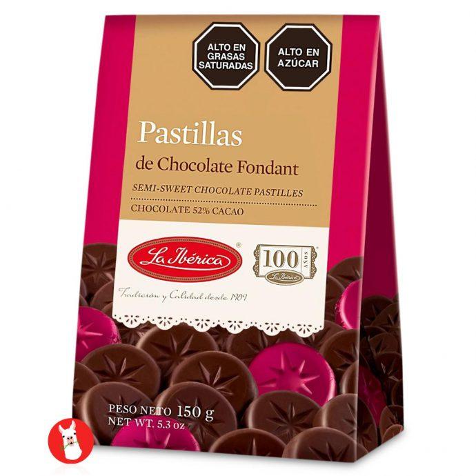 La Iberica Pastillas de Chocolate Fondant 52% Cocoa