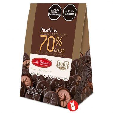 La Iberica Pastillas de Chocolate Negro 70% Cacao