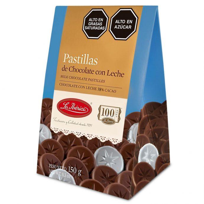 La Iberica Pastillas de Chocolate con Leche 38% Cacao