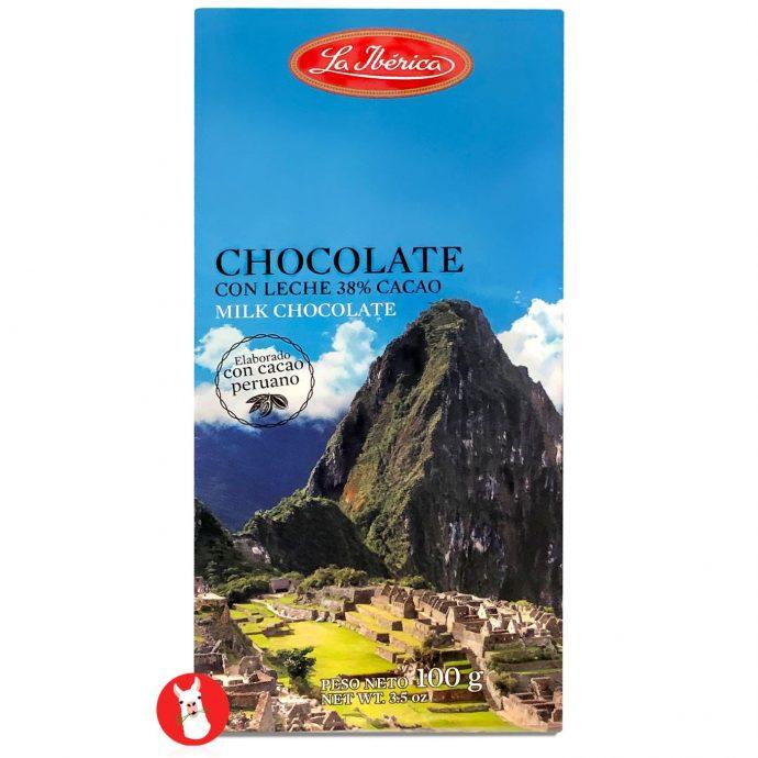 La Iberica Tableta de Chocolate con Leche 38% Cacao