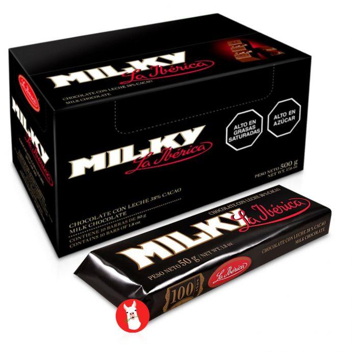 La Iberica 10 barras Chocolate Milky 38% Cacao