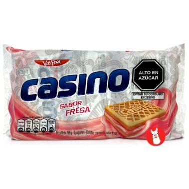 Victoria Casino Galletas con Crema Sabor Fresa