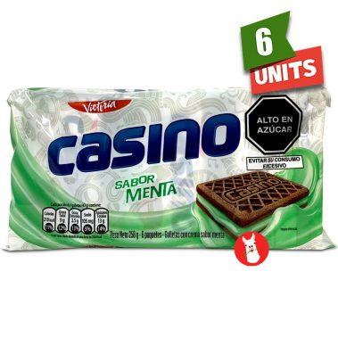 Victoria Casino Galletas con Crema Sabor Menta