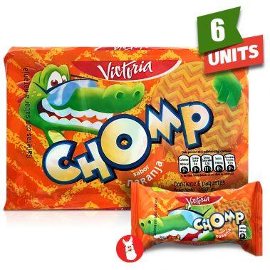 Paquete de 6 Galletas Victoria Chomp con Sabor a Naranja with single pack
